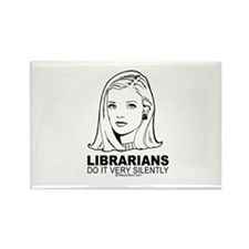Librarians do it with silence - Rectangle Magnet