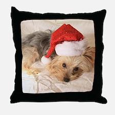 Santa Yorkie - Throw Pillow