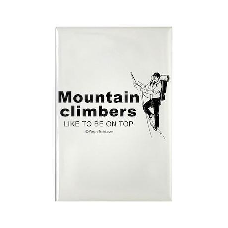 Mountain Climbers like to be on top - Rectangle M