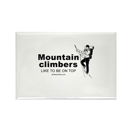 Mountain Climbers like to be on top - Rectangle M