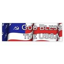 God Bless the USSA bumper sticker