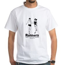Runners keep it up for hours - White T-shirt