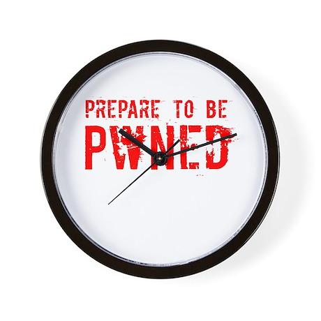 Prepare Pwned (grunge) Wall Clock