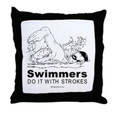 Swimmers do it with strokes -  Throw Pillow