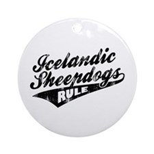 Icelandic Sheepdogs Rule Ornament (Round)