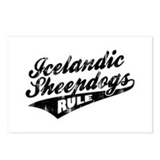 Icelandic Sheepdogs Rule Postcards (Package of 8)