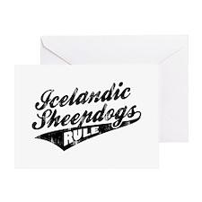 Icelandic Sheepdogs Rule Greeting Card