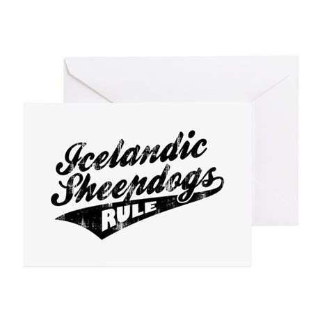 Icelandic Sheepdogs Rule Greeting Cards (Pk of 10)