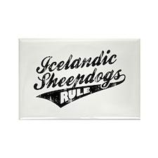 Icelandic Sheepdogs Rule Rectangle Magnet