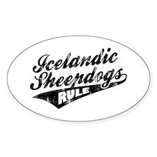 Icelandic Sheepdogs Rule Decal