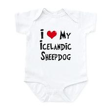 I Love My Icelandic Sheepdog Infant Bodysuit