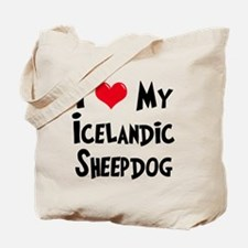 I Love My Icelandic Sheepdog Tote Bag