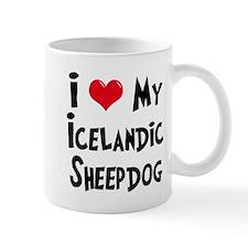I Love My Icelandic Sheepdog Small Mug