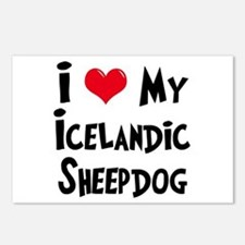 I Love My Icelandic Sheepdog Postcards (Package of