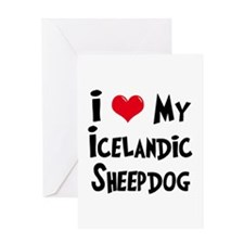I Love My Icelandic Sheepdog Greeting Card