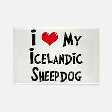 I Love My Icelandic Sheepdog Rectangle Magnet