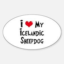 I Love My Icelandic Sheepdog Decal