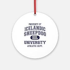 Icelandic Sheepdog U Ornament (Round)
