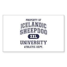 Icelandic Sheepdog U Decal