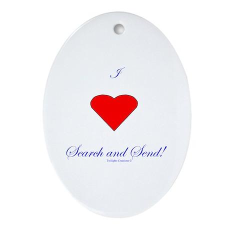 Love Search Send Ornament (Oval)