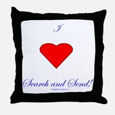 Love Search Send Throw Pillow