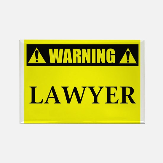 WARNING: Lawyer Rectangle Magnet (100 pack)