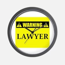 WARNING: Lawyer Wall Clock