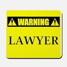 WARNING: Lawyer Mousepad