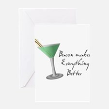 Funny Bacon Martini Greeting Card