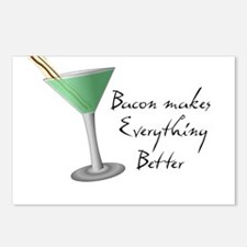 Funny Bacon Martini Postcards (Package of 8)