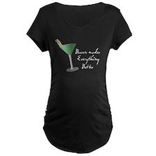Funny Bacon Martini T-Shirt