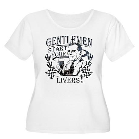 Gentlemen Start Your Livers Women's Plus Size Scoo