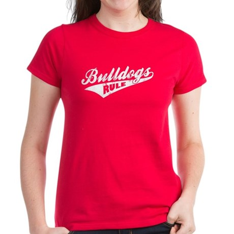Bulldogs Rule Women's Dark T-Shirt