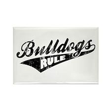 Bulldogs Rule Rectangle Magnet