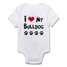 I Love My Bulldog Onesie
