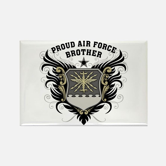 Proud Air Force Brother Rectangle Magnet