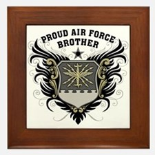 Proud Air Force Brother Framed Tile