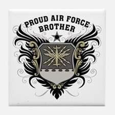 Proud Air Force Brother Tile Coaster