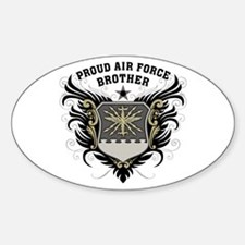 Proud Air Force Brother Sticker (Oval)