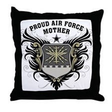 Proud Air Force Mother Throw Pillow