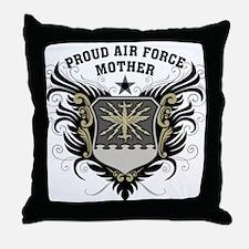 Proud Air Force Mother Throw Pillow