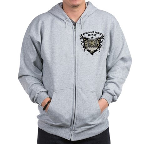 Proud Air Force Father Zip Hoodie