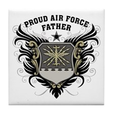 Proud Air Force Father Tile Coaster