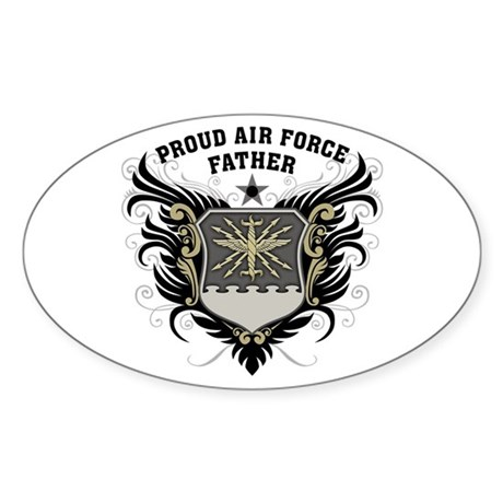 Proud Air Force Father Sticker (Oval)