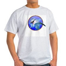 Dolphin Smiling Ash Grey T-Shirt