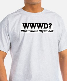 What would Wyatt do? Ash Grey T-Shirt