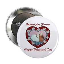 "Valentine Rabbits 2.25"" Button (10 pack)"