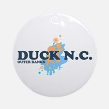 Duck NC - Seashells Design Ornament (Round)