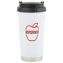 Red Apple Outline Travel Mug