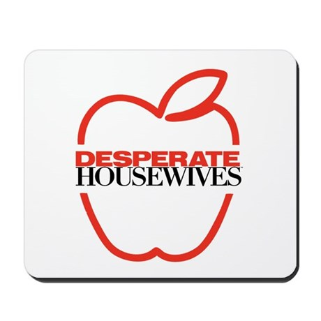 Red Apple Outline Mousepad
